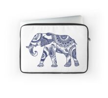 Navy Patterned Elephant Laptop Sleeve