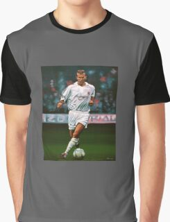 Zidane at Real Madrid Painting Graphic T-Shirt