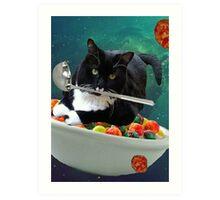 cereal cat Art Print