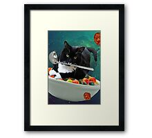 cereal cat Framed Print