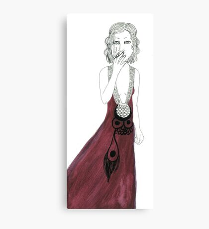 Smoking Lady Canvas Print