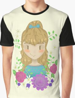 Sweet girl floral Graphic T-Shirt