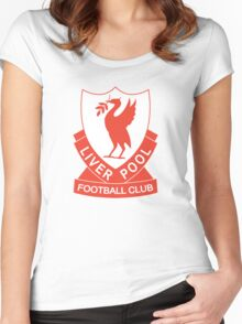 LIVERPOOL OLD LOGO crest badge vintage retro Women's Fitted Scoop T-Shirt