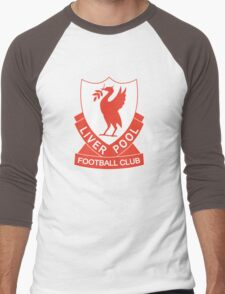 LIVERPOOL OLD LOGO crest badge vintage retro Men's Baseball ¾ T-Shirt