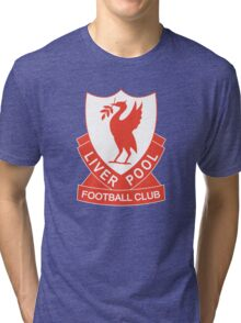 LIVERPOOL OLD LOGO crest badge vintage retro Tri-blend T-Shirt