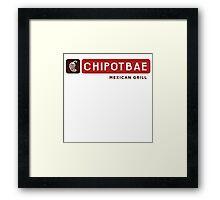 Chipotbae Framed Print