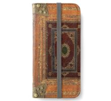 Old Engraved Decorated Leather Book Cover iPhone Wallet/Case/Skin