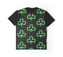 Irish Shamrock Good Luck Symbol Neon Sign Graphic T-Shirt