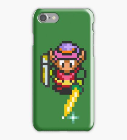 Link charging the Master Sword iPhone Case/Skin