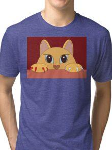 MANICURE PEDICURE CAT Tri-blend T-Shirt