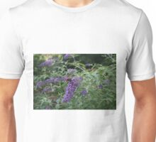 Red Admiral butterfly on rose bay willow herb Unisex T-Shirt