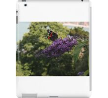 Red Admiral on rose bay willow herb flower  iPad Case/Skin