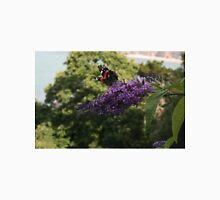 Red Admiral on rose bay willow herb flower  Unisex T-Shirt