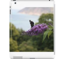 Red admiral on rose bay willow herb, Exmoor backdrop iPad Case/Skin