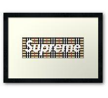 Supreme Burberry Framed Print