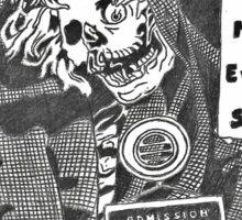 Pandora Fox Art Creepshow Sketch! :D Sticker