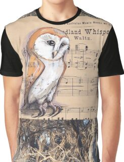 Woodland Whispers - Barn Owl Graphic T-Shirt