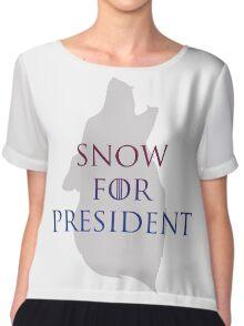 Snow for President Chiffon Top