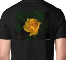First yellow rose of the season Unisex T-Shirt