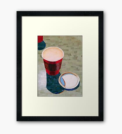 """Empty cup"" Framed Print"