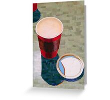 """""""Empty cup"""" Greeting Card"""