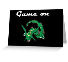 Game on Rayquaza Greeting Card