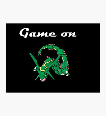 Game on Rayquaza Photographic Print