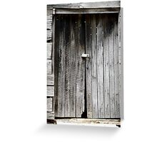 Old Barn Doors With Latch and Key Greeting Card