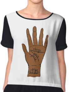 Change Your Fate - Brown Hand Chiffon Top