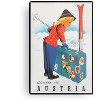 Winter in Austria Vintage Travel Poster Metal Print