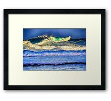 High Surf  Framed Print