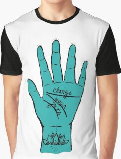 Change Your Fate - Blue Hand Graphic T-Shirt