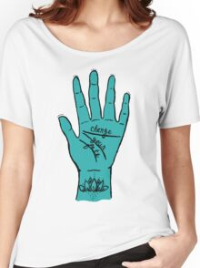 Change Your Fate - Blue Hand Women's Relaxed Fit T-Shirt