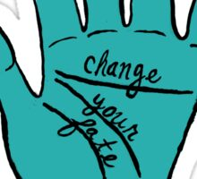 Change Your Fate - Blue Hand Sticker