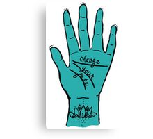 Change Your Fate - Blue Hand Canvas Print