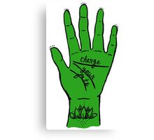 Change Your Fate - Green Hand Canvas Print