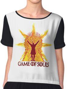 Game of Souls-flame Chiffon Top
