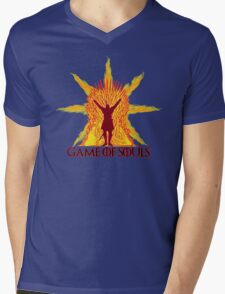 Game of Souls-flame Mens V-Neck T-Shirt