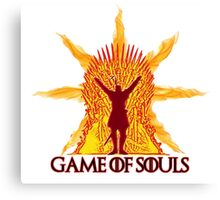Game of Souls-flame Canvas Print