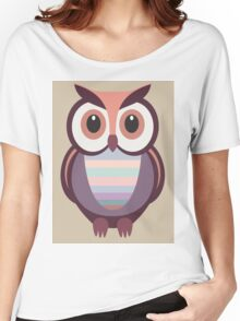 WIDE EYED OWL Women's Relaxed Fit T-Shirt