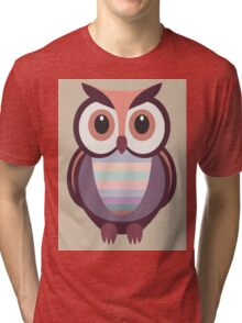 WIDE EYED OWL Tri-blend T-Shirt