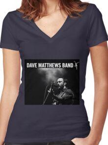 Dave Matthews Band Live Concert 2016 Women's Fitted V-Neck T-Shirt