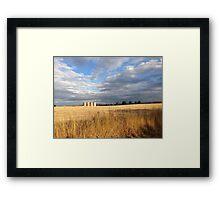 Wheat Silos  Framed Print
