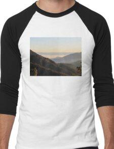 Valley Fog At Sunrise Men's Baseball ¾ T-Shirt