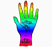 Change Your Fate - Rainbow Hand Unisex T-Shirt