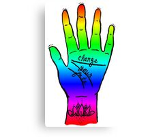 Change Your Fate - Rainbow Hand Canvas Print