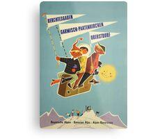 Austria, Germany Bavarian Alps Vintage Travel Poster Metal Print