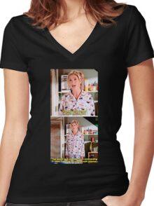 Buffy's Yummy Sushi Pyjamas  Women's Fitted V-Neck T-Shirt