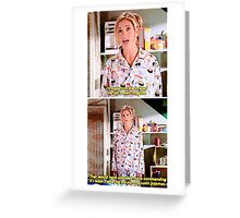 Buffy's Yummy Sushi Pyjamas  Greeting Card