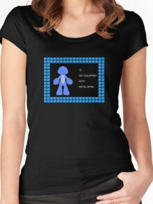 Mega Man Spinal Fusion - Get Equipped With Women's Fitted Scoop T-Shirt